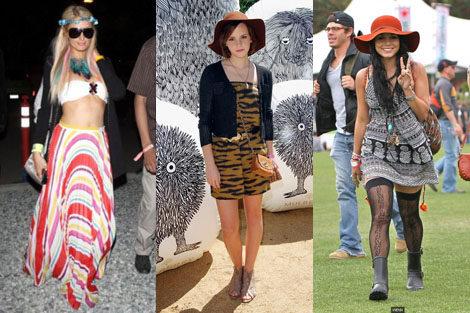 Triunfaron los estilismos boho chic y hippy
