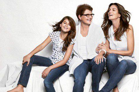 La top model con su madre y su hija