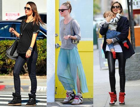 Alessandra Ambrosio, Kate Bosworth y Miranda Kerr con las sneakers