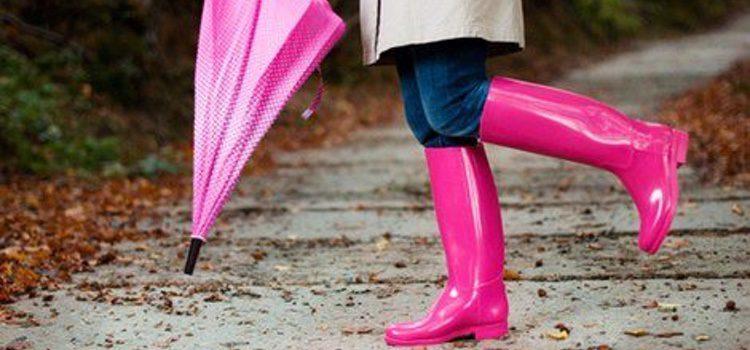 Para los días de lluvia y frío, lo mejor es utilizar botas de agua