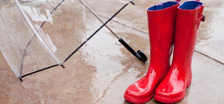 Las botas de agua clásicas y lisas son perfectas para ir al trabajo