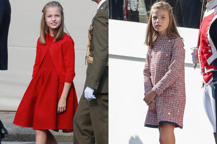 El look de la Princesa Leonor y la Infanta Sofía en el Día de la Hispanidad 2017