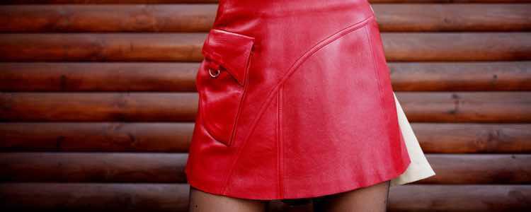 La falda de cuero también puede ser una gran opción