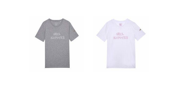 Camisetas de manga corta con el mensaje benéfico