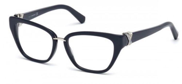 Montura de gafas de pasta con brillantes Swarovski