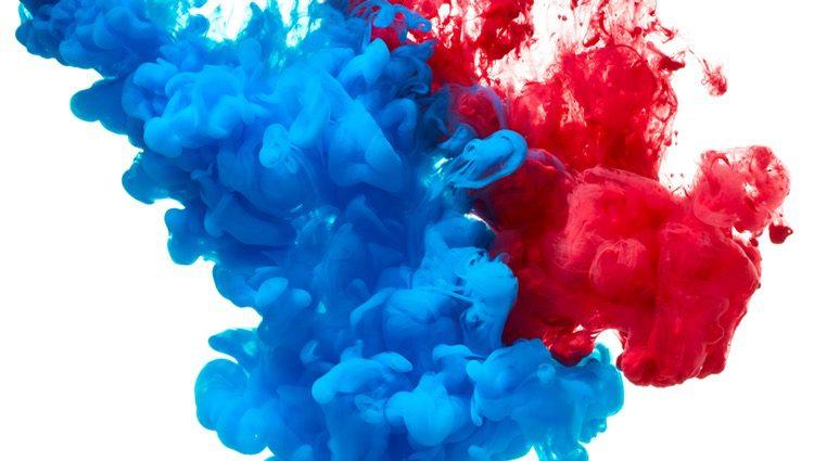 El rojo y el azul se fusionan para crear este color