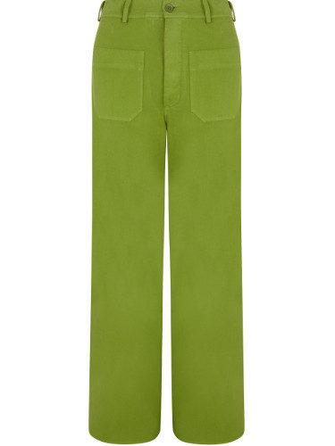 Pantalón color verde de lino