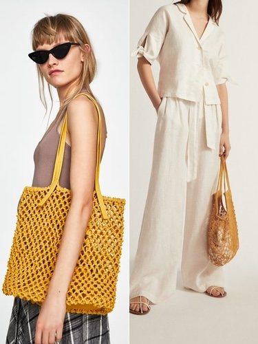Bolso de la derecha de Mango y bolso de la izquierda de Zara