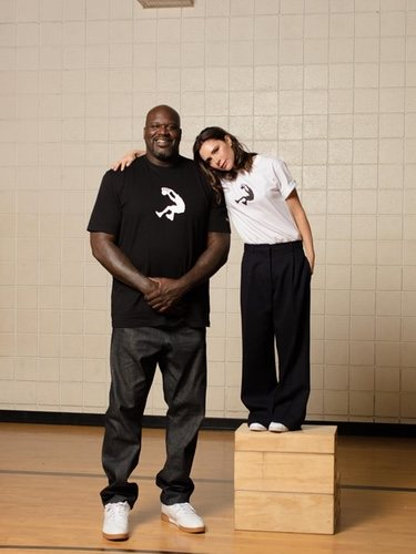 Victoria Beckham con Shaquille O'Neal