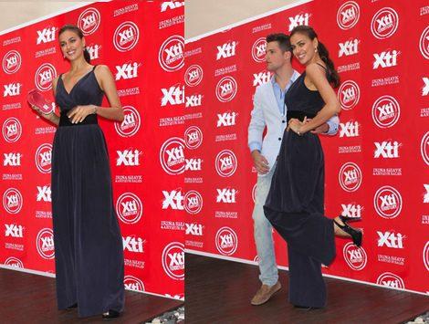 Irina Shayk y Arthur Sales en la presentación de la nueva temporada de calzados de Xti
