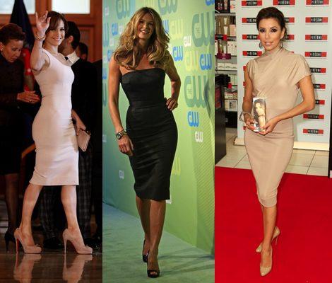 Eva Longoria, Ele Macpherson y Jennifer López con diseños de Victoria Beckham