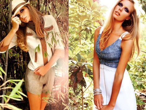 Dos de las piezas de la nueva colección de Laura Bernal primavera/verano 2012