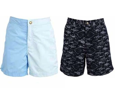 Dos de los bañadores de hombre de la nueva colección verano 2012 de Asos