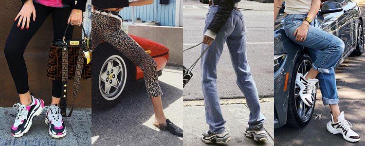 Chiara Ferragni y Elsa Hosk vistiendo 'ugly shoes' con looks sencillos / Fuente: Instagram