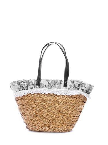 El bolso de rafia lo puedes usar para ir a la playa