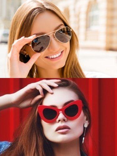 El estilo aviador (arriba) y la forma ojo de gato (abajo) son dos de los modelos más atemporales