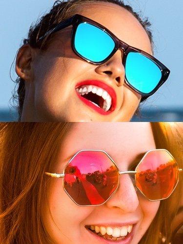 Las gafas desportivas (arriba) o con formas geométricas (abajo) son algunas de las tendencias más recientes