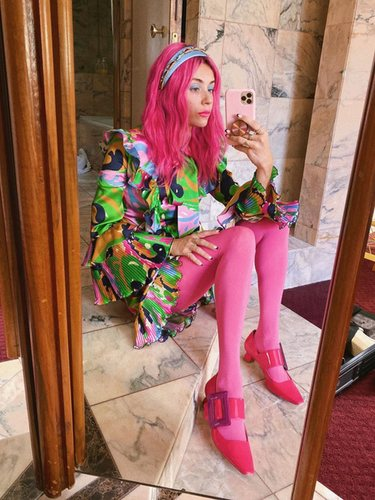 Miranda Makaroff, un referente del color block | Foto: Instagram