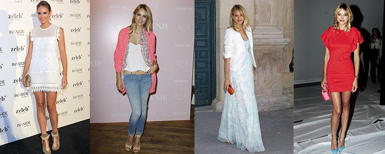 Varios looks de Alba Carrillo en 2013 y 2014