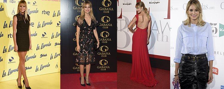 Varios looks de Alba Carrillo en 2016 y 2017