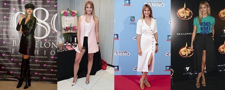 Varios looks de Alba Carrillo en 2018