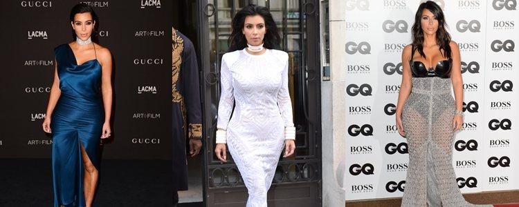 Varios looks de Kim Kardashian en 2014