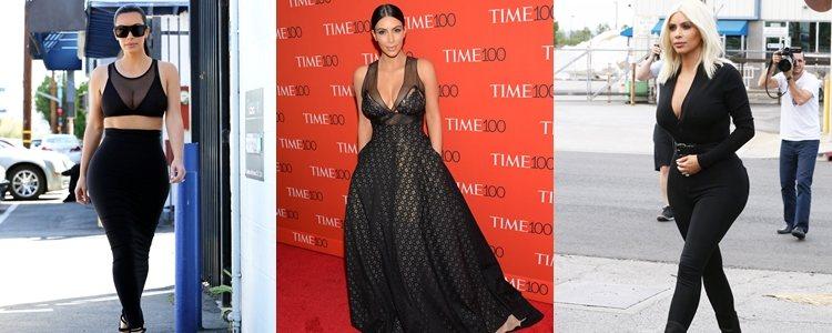 Varios looks de Kim Kardashian en 2015