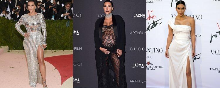 Varios looks de Kim Kardashian en 2015 y 2016