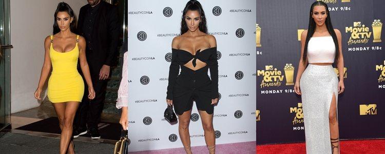 Varios looks de Kim Kardashian en 2018
