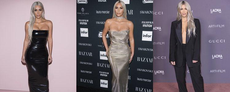 Varios looks de Kim Kardashian en 2017