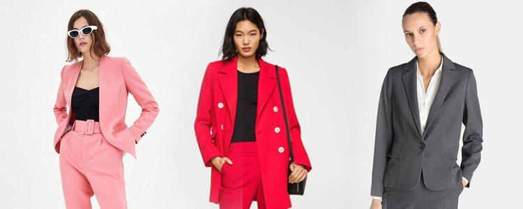 Trajes de chaqueta y pantalón combinados / Fotos: ZARA y El Corte Inglés