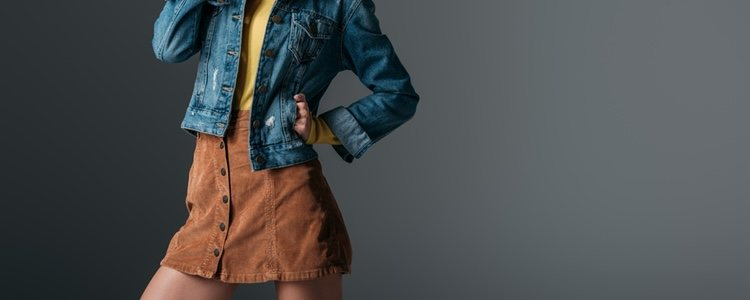 Falda de pana ideal para un look informal