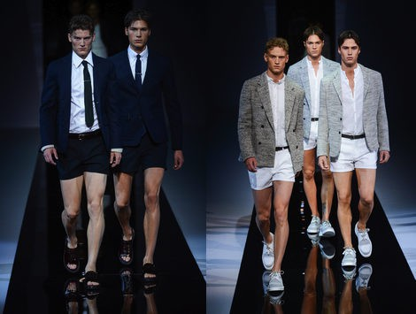 pantalones cortos emporio armani