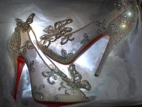 Christian Louboutin crea los zapatos de la Cenicienta