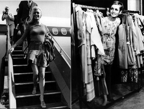 Briggitte Bardot y la modelo Twiggy