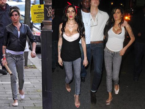 la cantante se decanta por los jeans color gris