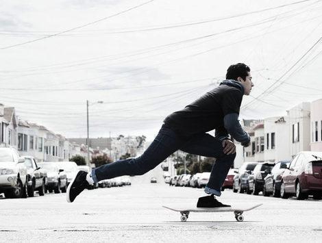 imagen promocional de la campaña de los nuevos jeans de levis y nike