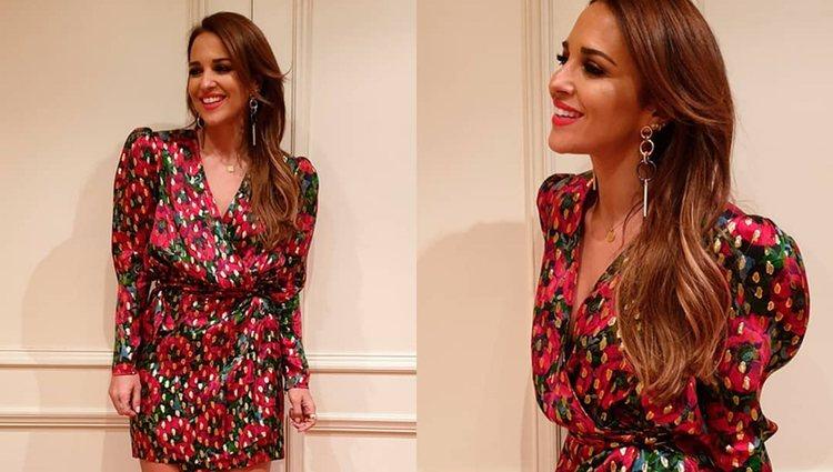 Paula Echevarría con el vestido de flores | Foto: Instagram