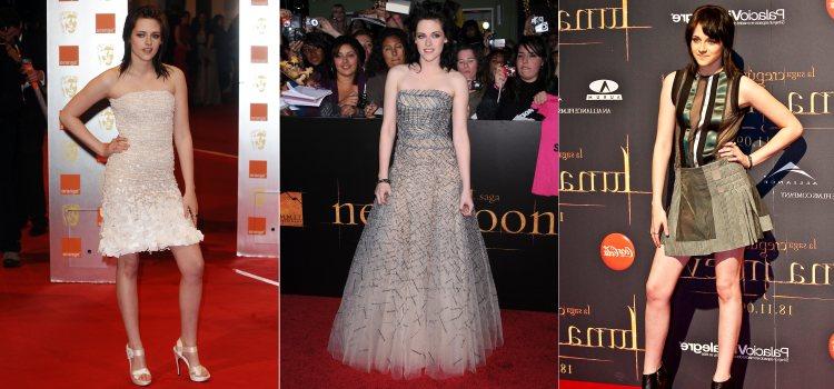 Varios looks de la actriz Kristen Stewart en 2009 y 2010