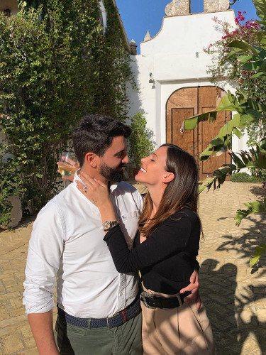 Coco y Rocío Osorno en la Hacienda Satillo-Laso donde celebrán su boda   Foto: Instagram