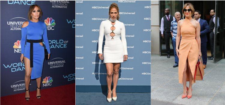 Varios looks de la cantante Jennifer Lopez en 2016 y 2017