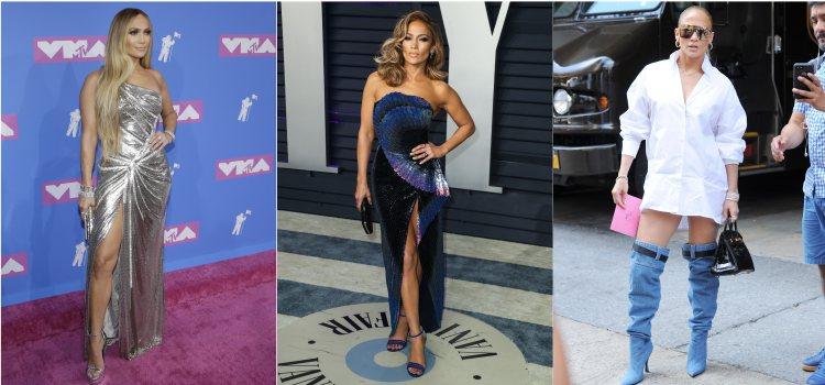 Varios looks de la cantante Jennifer Lopez en 2018 y 2019
