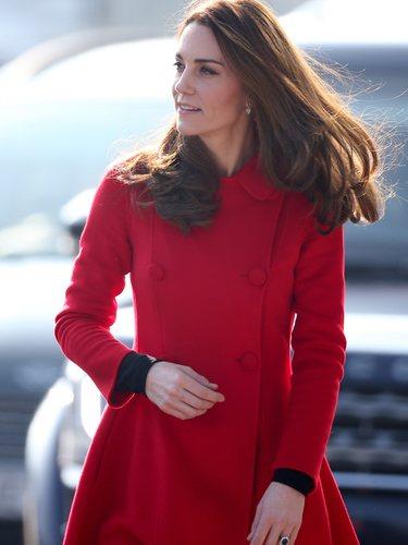 Kate Middleton durante el acto en Belfast