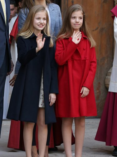 La Infanta Sofía durante la Misa de Pascua e 2017
