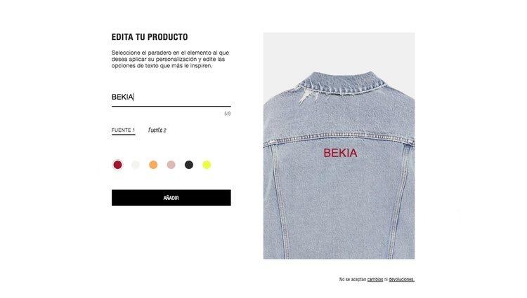 Como personalizar tus prendas en Zara Online