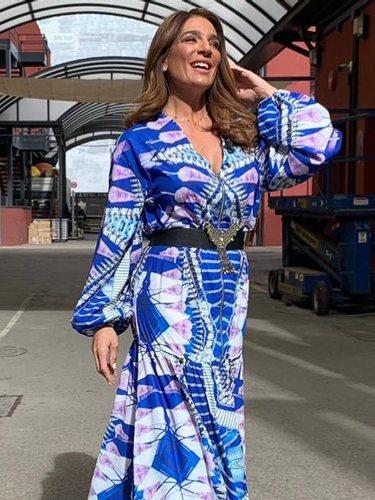 Raquel Bollo con el vestido en 'Sálvame' | Foto: Instagram