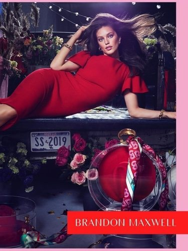 Emily Didionato para Brandon Maxwell en su colección primavera/verano 2019