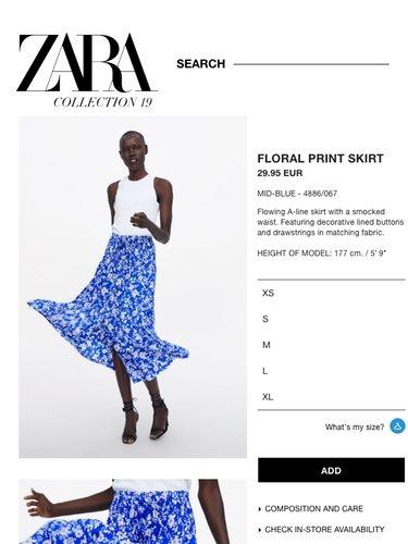 Zara amplía su rango de tallas con la XS y la XL