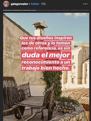 Mensaje de Gala González | Foto: Instagram