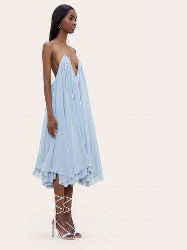 Vestido de Jacquemus La Robe Belle en tonalidad aguamarina